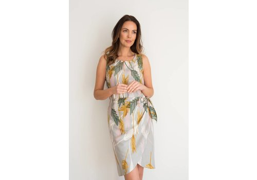 JABA JABA Sarong Dress in Palm Grey