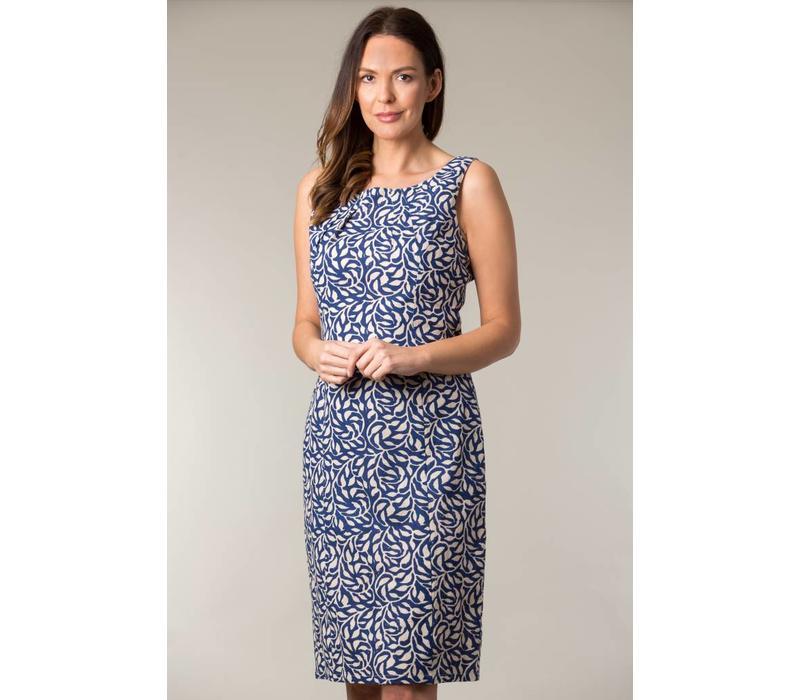 Jaba Emily Dress in Blue Vine