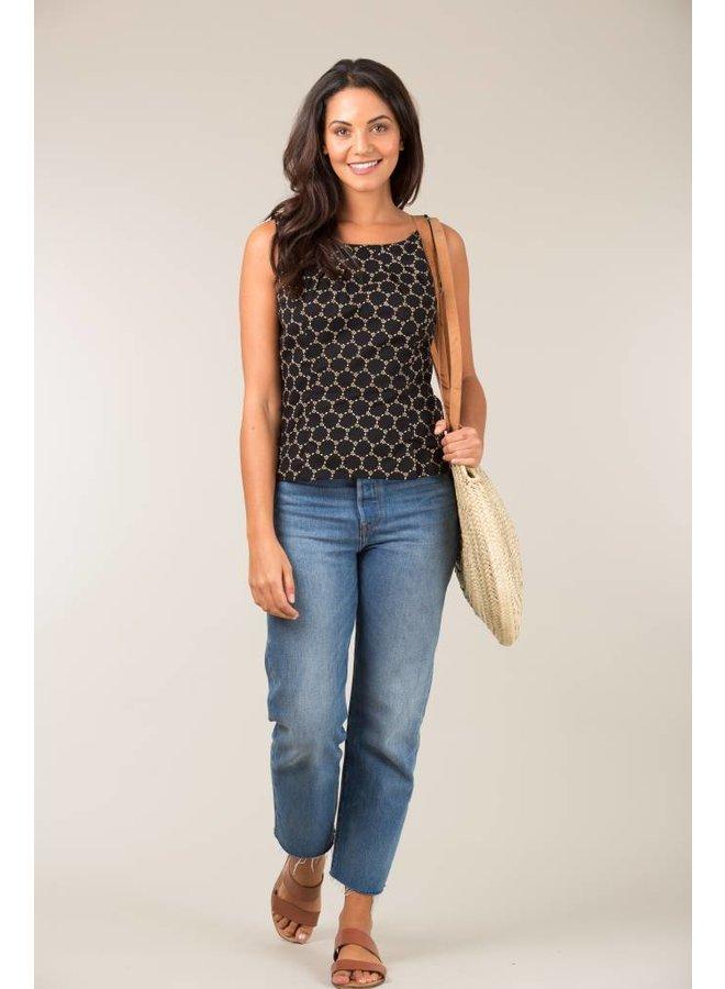 Jaba Leila Top in Black Honeycomb