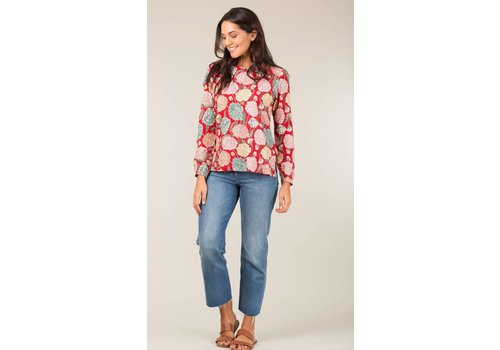 JABA Jaba Long Sleeved Top in Hydrangea Red