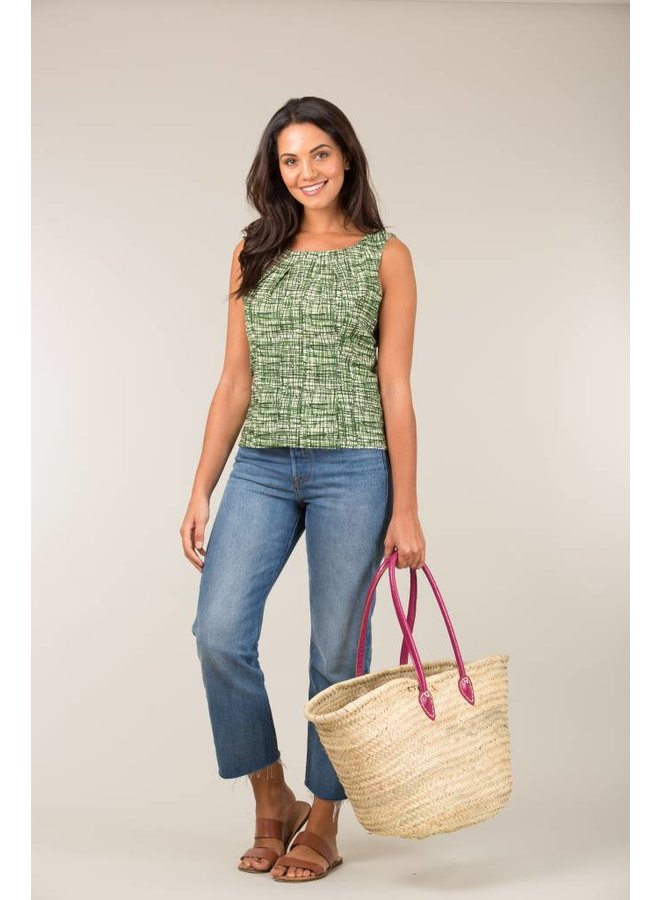 Jaba Leila Top in Green Grid