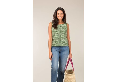 JABA Jaba Leila Top in Green Grid