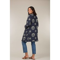 Jaba Reversible Coat in Bird Print