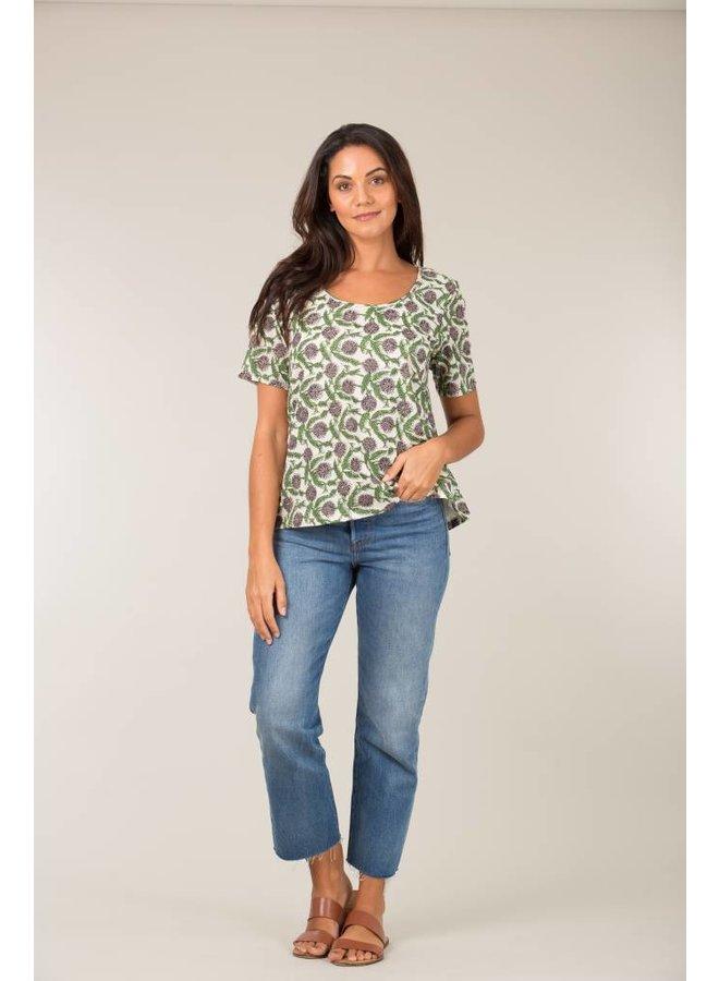 Jaba Woven T-Shirt in Sunflower Grey