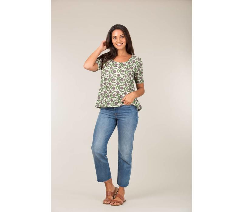 Jaba Woven T-Shirtin Sunflower Grey