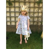 Jaba Kids Thea Dress in Jungle Blue