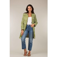 Jaba Reversible Coat in Green Grid