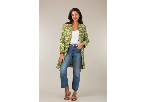 JABA Jaba Reversible Coat in Green Grid