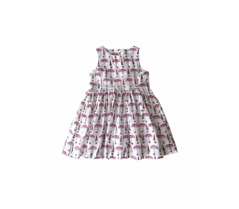 Jaba Kids Amelie Dress in Umbrella Prints