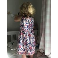 Jaba Kids Isabella Dress in Pink Block