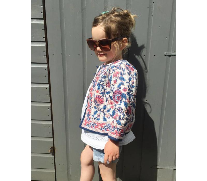 Jaba Kids Reversible Jacket in Pink Block