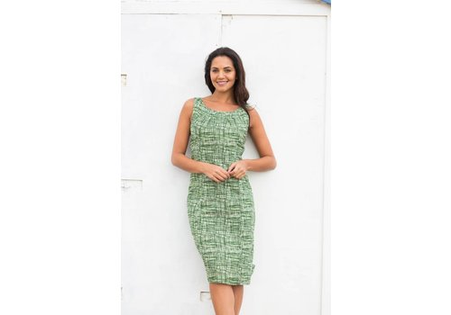 JABA Jaba Emily Dress in Green Grid