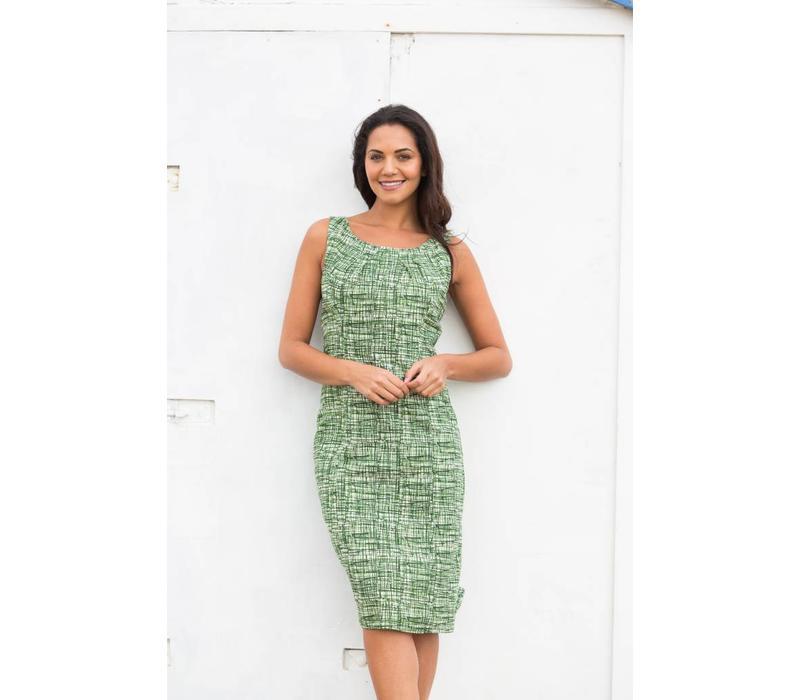 Jaba Emily Dress in Green Grid