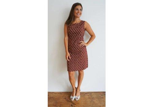 JABA JABA Nicole Dress - Burgundy Honeycomb