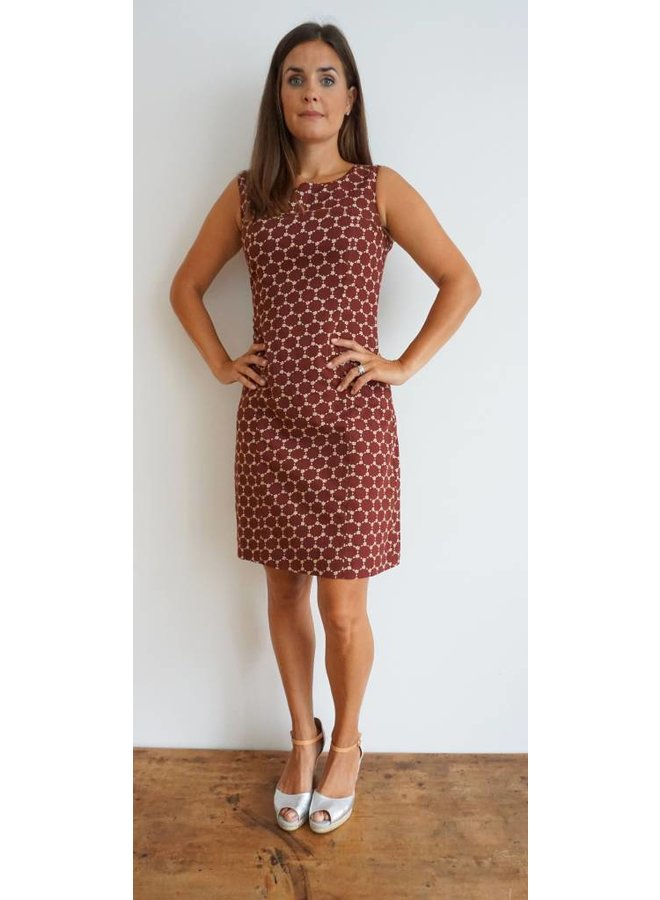 JABA Nicole Dress - Burgundy Honeycomb