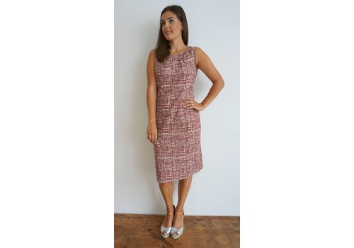 JABA JABA Emily Dress - Burgundy Grid