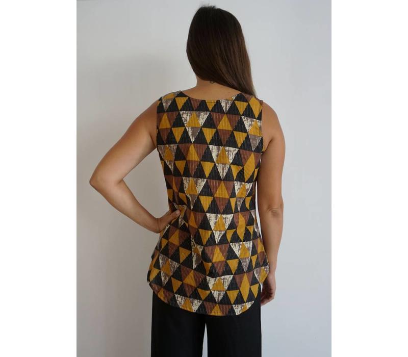 JABA Zoe Top - Triangle Print
