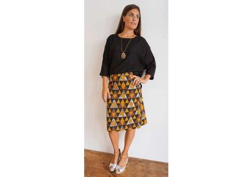 JABA Jaba Lauren Skirt in Triangle Print