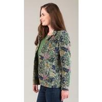 JABA Velvet Jacket in Scarf Print