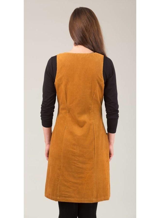 JABA Pinnafore Cord Dress in  Ochre