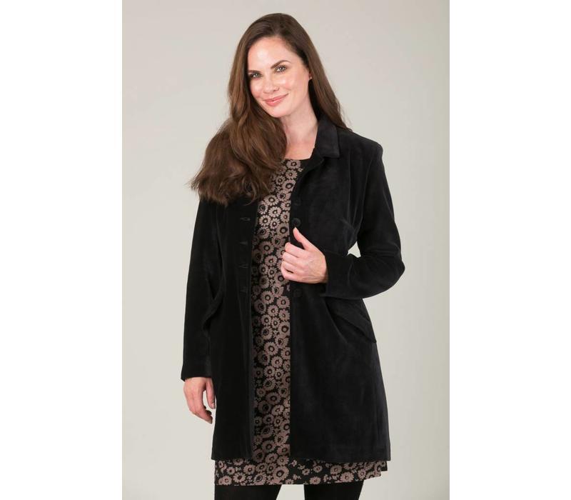 Jaba Black Velvet Coat