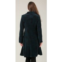 Jaba Velvet Coat in Abstract Check
