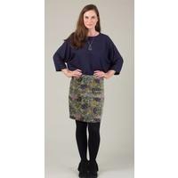 Jaba Velvet Skirt in Green Scarf