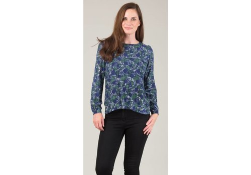 JABA Jaba Long Sleeved Top in Blue Abstract