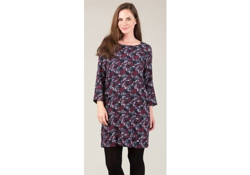 JABA Jaba Georgina Dress  in Aubergine Abstract