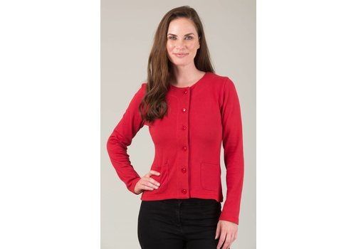 JABA JABA Jersey Cardigan in Red