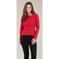 JABA Jersey Cardigan in Red