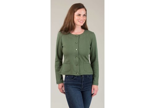 JABA Jaba Jersey Cardigan in Green
