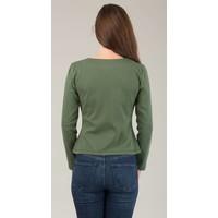 Jaba Jersey Cardigan in Green
