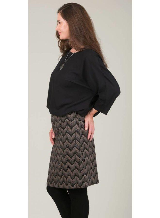 JABA Lora Skirt in Zig Zag