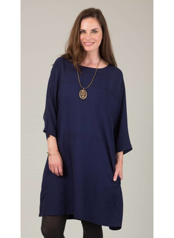 Jaba Etta Dress in Navy