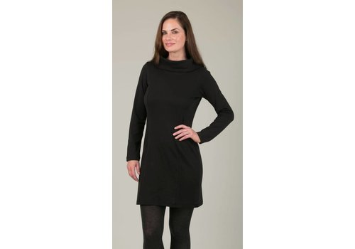 JABA Jaba Black Roll Neck Dress