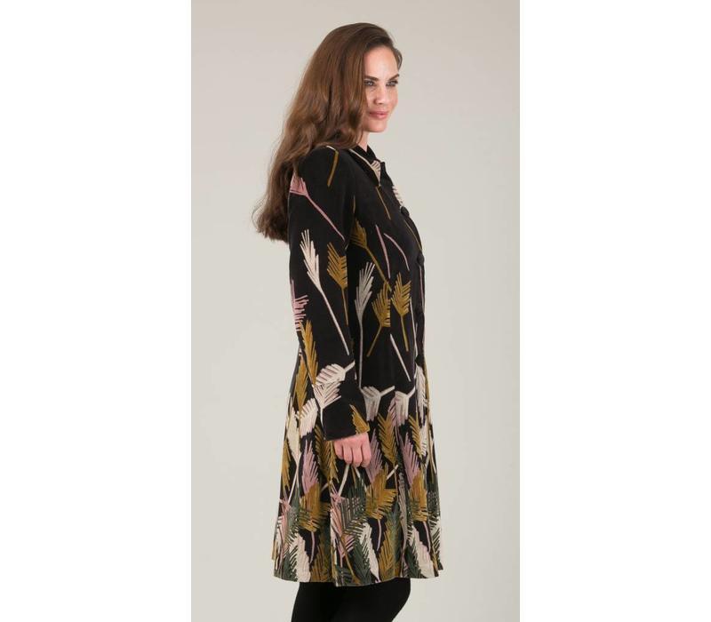 JABA Velvet Coat in Palm print
