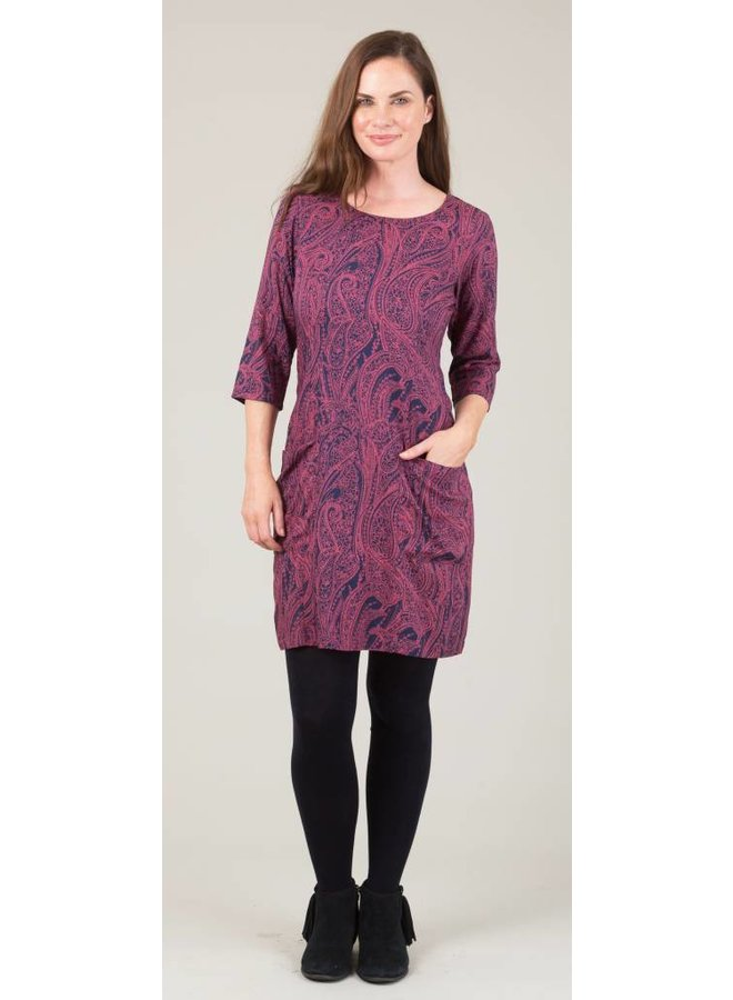 Jaba Sadie Dress in Pink Paisley