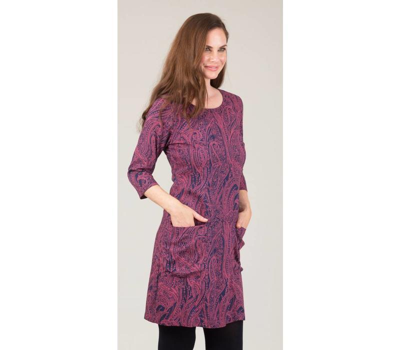 Jaba Sadie Dress in Pink Paisley