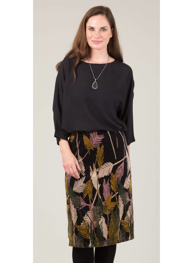 Jaba Lauren Skirt in Palm Print