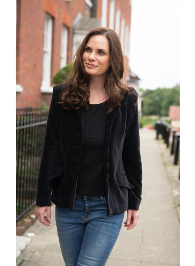 Jaba Black Velvet Jacket