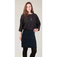 Jaba Velvet Skirt in Green Abstract