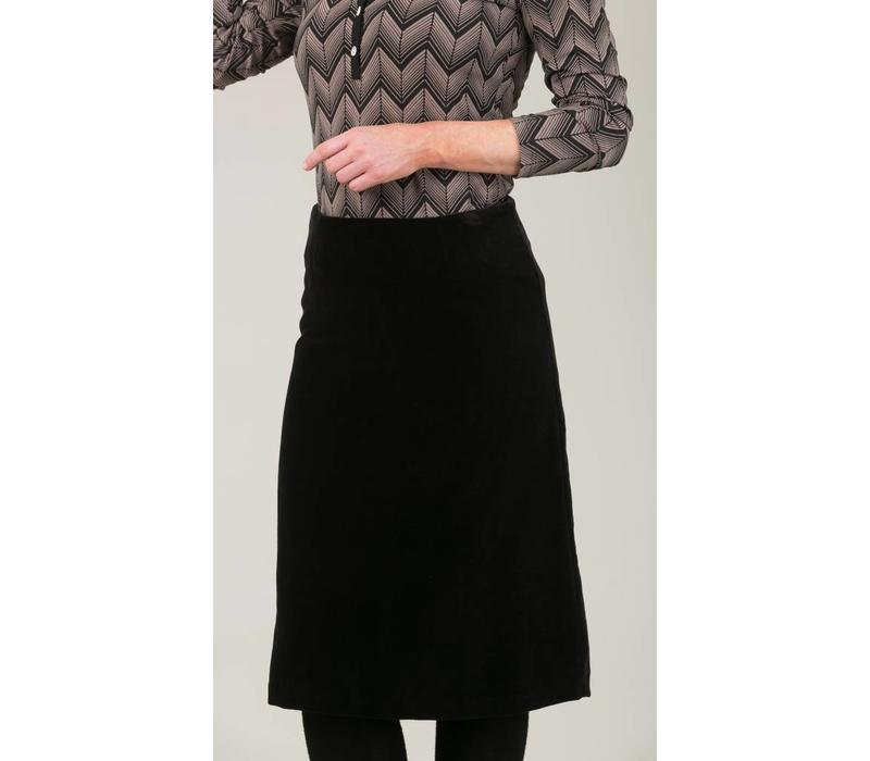 Jaba Lauren Black Velvet Skirt