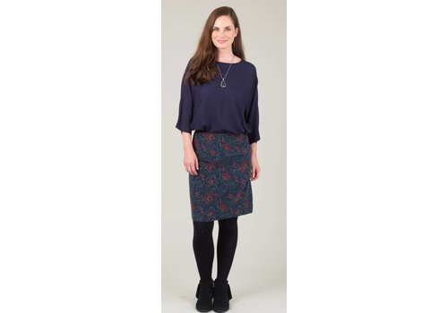 JABA Jaba Lora Skirt in Navy Block Print