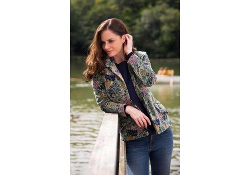 JABA JABA Velvet Jacket in Scarf Print