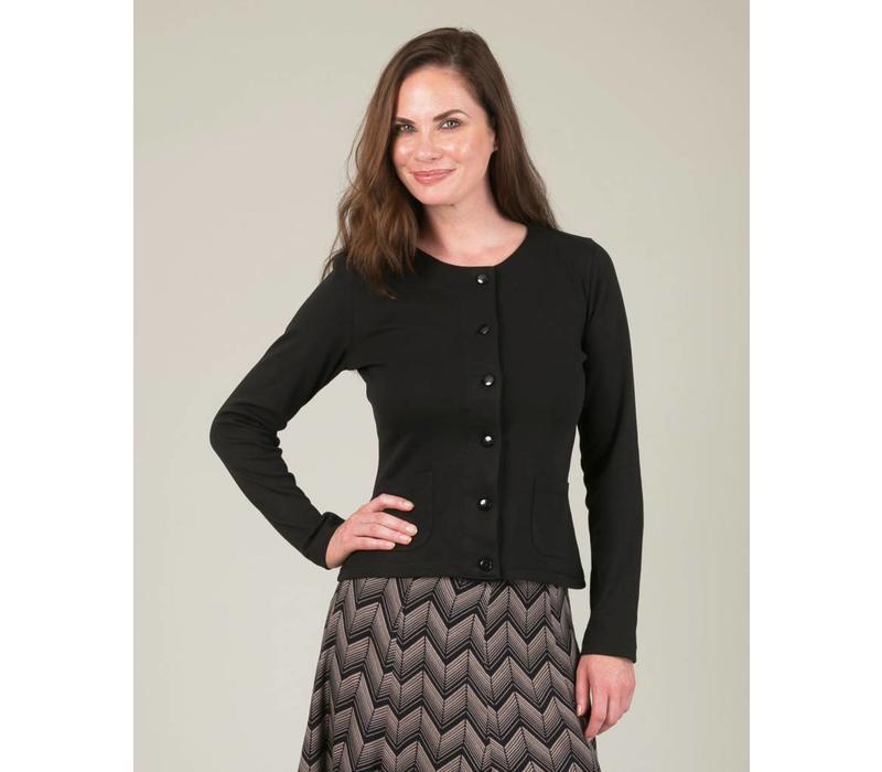 Jaba Jersey Cardigan in Black