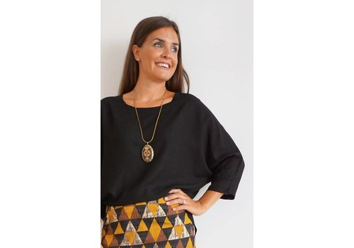 JABA Jaba Edie Top in Black