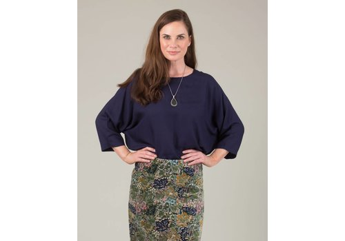 JABA Jaba Edie Top in Navy
