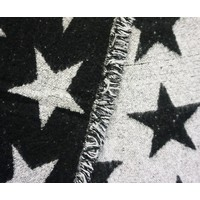 Reversible Star Shawl in Black/Grey