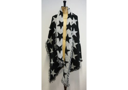 PURE Reversible Star Shawl in  Black/Grey